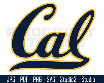 Golden Bears SVG, California Golden Bears, College Sports, Footballl - Cut Files - SVG, PNG, Studio - Silhoutte, Cricut and More - CS109