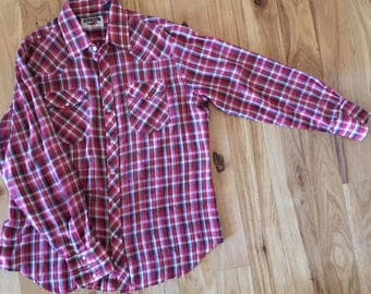 Authentic Western Youngbloods Vintage Pearl Snap Western Shirt