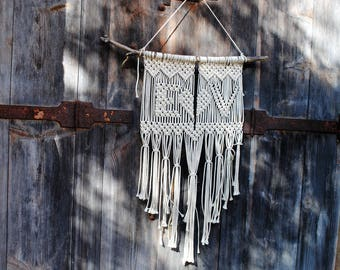 macrame personalized with your initials, wedding decoration