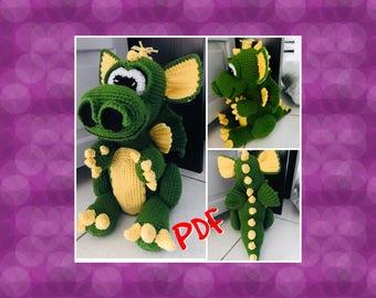 Tuto/pattern PDF Drigo le dragon crochet