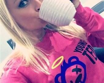 Sweatshirt for Women Teddy Bear Angel Jumper