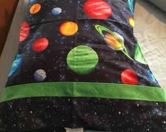 Pillowcase fits standard size pillow