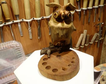Wood owl,Owl,Carved Wood Owl,Carved Owl,Wood Carving,Wood Bird, Bird,Handmade,Art, Wood  Sculpture, Owl Figure,