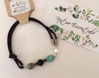 Leather & Lava Diffuser Bracelet