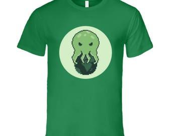 16 Bit Cthulhu T Shirt