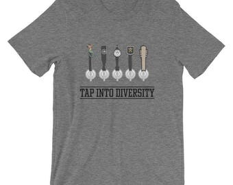 "Men's ""Tap Into Diversity"" Comfortable T-Shirt - Heather Grey"