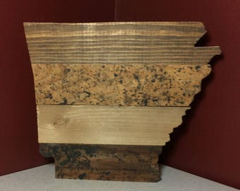 Rustic Arkansas Cutout Plaque - Reclaimed Wood