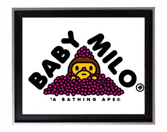 Bape Baby Milo Hearts Poster or Art Print (a bathing ape)