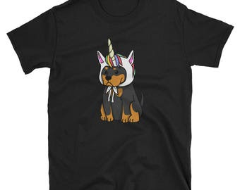 Funny Unicorn Rottweiler T-Shirt, Cute Rottweiler Gifts