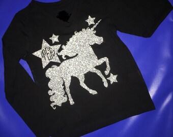 Long sleeve unicorn t-shirt