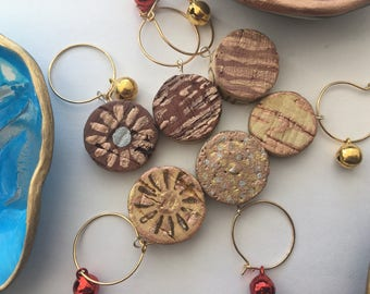 Wine Glass Charm,Upcycled Wine Cork,Handmade Wine Charms,Christmas Gift,Wine Accessories,Housewarming,Gift Ideas,Gift for Wine Lovers