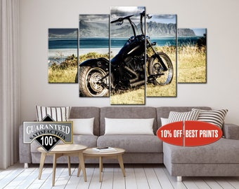 Chopper Black canvas, Motorbike print, Old-style Motorcycle, Chopper Bike canvas, Motorcycle Canvas, Motorbike Canvas, Motorcycle Racing