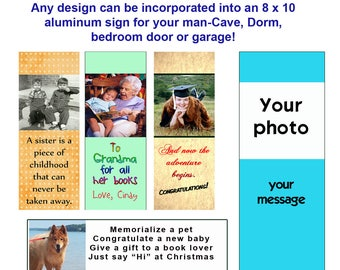 CUSTOM BOOKMARKS - Design your own