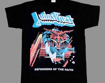 judas priest defenders of the faith'84 new black t-shirt
