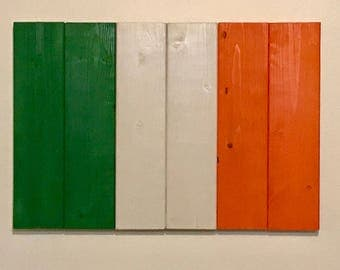 Wood Irish Flag