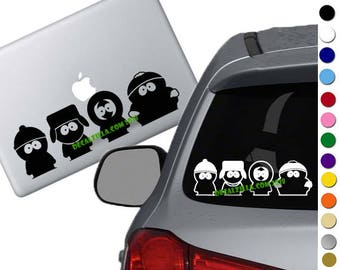 South Park- Stan, Kyle, Kenny, and Cartman Decal Sticker