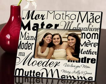 Personalized Mom in Translation Frame - Mother's Day Gifts - Mom Photo Frames - Mother Photo Frames - Personalized Mom Picture Frames