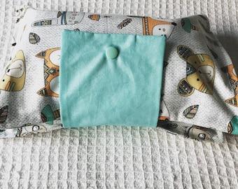 Woodland Animal Nappy Wallet, Diaper wallet, change mat