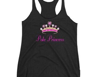 Pole Princess Women's Racerback Tank. poledance tank. womens pole dance tank. pole dancing tank top. pole fitness tanks. pole fitness.