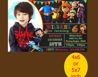 Boboiboy Birthday Invitation, Boboiboy Invitation, Boboiboy Birthday, Boboiboy Party, Boboiboy Printable, Boboiboy Instant Download