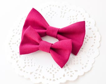 Bright Pink Fabric Hair Bow - Girls Hair Clip - Alligator Clip - Baby Headband - Newborn Bow - Pink Hair Bow