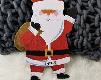 Personalized/Santa/Ornament/Sparkling/Santa's/List/Traditional/Holiday