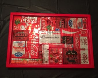 All Red Aluminum Can Tray