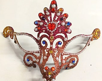 Diminutive, Mardi Gras mask, party mask, hand made mask, festival mask, halloween mask, fairy mask, role playing mask, costume mask