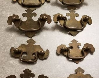 8 Vintage Bronze Drawer Pulls