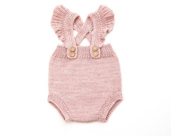 Kuzzy Design Baby Romper,Baby Knitted Romper,Baby Knit Romper,Baby Knitted Sets,Newborn/3/6/9/12 months Knitted Rompers