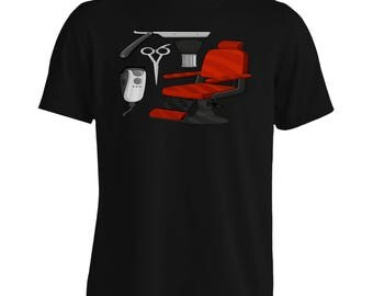 Barber Chair Hair Men's T-Shirt p145m