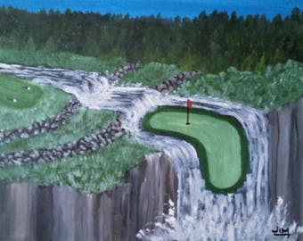 Surreal Golf Course Landscape # 8 of series