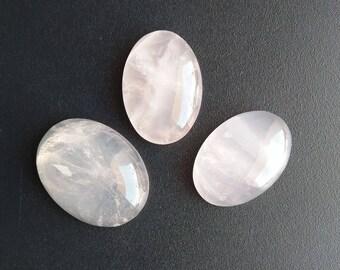 Rose Quartz 03 Pieces Beautiful Stones, Natural Rose Quartz Gemstone, Mix Shape Gemstones, Smooth Super Shiny, Rose Quartz Weight 89 Carat.