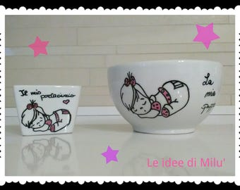 Cups/baby bowl and pacifier holder for babies