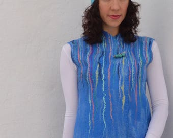 """Vest felted """"Waterfall"""""""