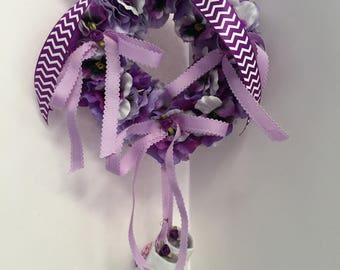 It's A ?  Baby Birth/Nursery Wreath - Purple Hydrangea