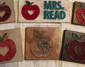 Apple String Art Teachers Gifts