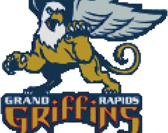 AHL Grand Rapids Griffins Counted Cross Stitch Pattern PDF Download