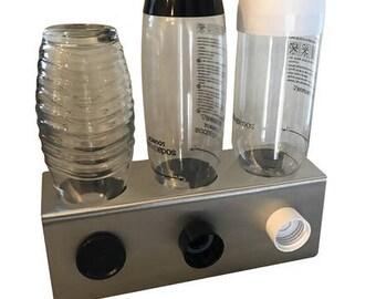 Stainless Steel 3 drip holder for e.g. Sodastream crystal bottles