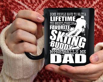 Favorite Skiing Buddy Coffee Mug, Mine Calls Me Dad Coffee Cup