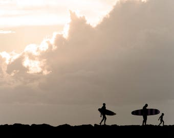 Surf Photography, Surf Decor, Beach Photography, Coastal Wall Art, Ocean Print, Silhouette