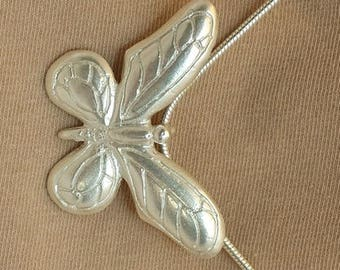 Limited Edition, Fully Hallmarked Solid Silver Butterfly pendant.