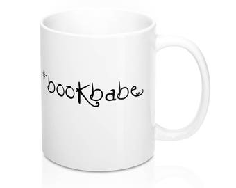 Bookstagram Mug // #BookBabe // Photo Prop // Book Lover // Reading // Bookish // Librarian Gift // English Teacher Gift
