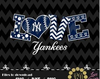 New York Yankees baseball svg,png,dxf,cricut,silhouette,jersey,shirt,proud,birthday,invitation,sports,cut,girl,love,softball,2018 new,decal