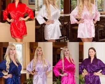 Bridesmaid Robes Set of 13, Bridesmaid Gifts Set Of 13, Monogram Bridesmaid Robe, Bridal Party Robes, Bridesmaid Gift Robe, Satin Robes