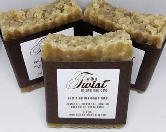 Rustic Beard and Body Soap With A Twist