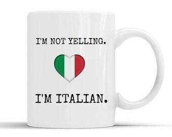 Italian funny mug,italian coffee mug,italian jokes,italian friend,italian pride,italian quotes,italian origin,italian student,from italy