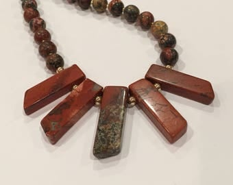 Jasper and Agate Beaded Necklace