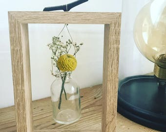 Dried flowers frame