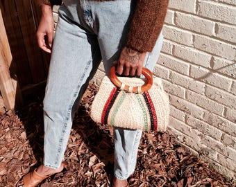 Women's  Handbags, Urban Outfitters, Madewell, Woven Vintage Small Handbag, Bohemian Handbag, Vintage Women's Handbag, Purses For Her